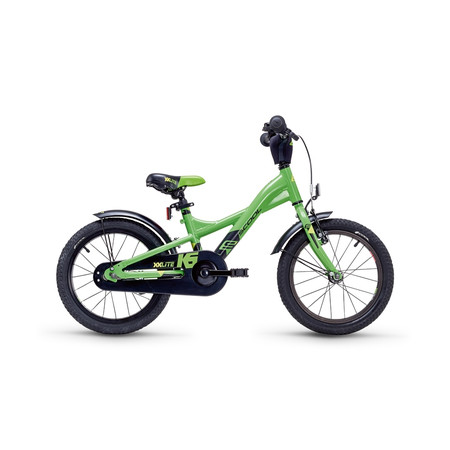 Kinderfahrrad S'cool XXlite 16 steel green/yellow