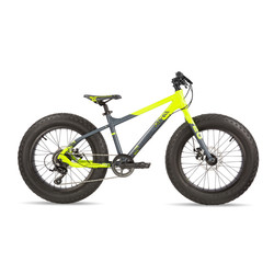 Scool XTfat 20 Zoll 9 Gang - neon yellow / black matt