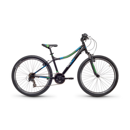SCool troX cross 26 Zoll 21-S Gang MTB - black/blue/green matt