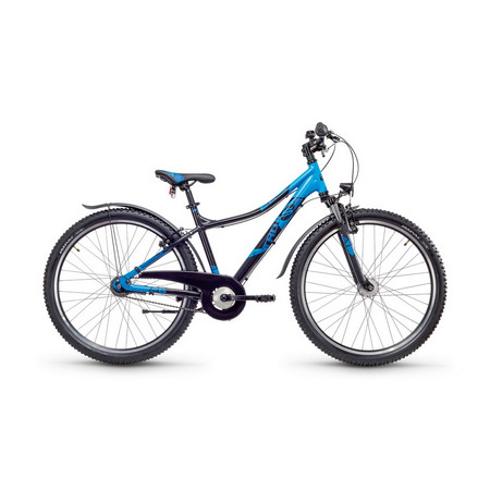 SCool troX urban 26 Zoll 7 Gang MTB - black blue matt